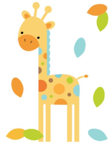 386x500 Giraffe Baby Shower Clipart
