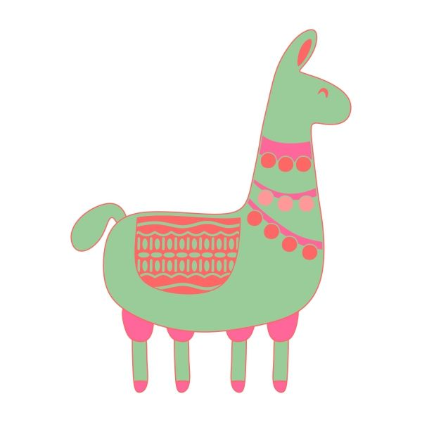 600x600 The Best Llama Clipart Ideas Cartoon Llama
