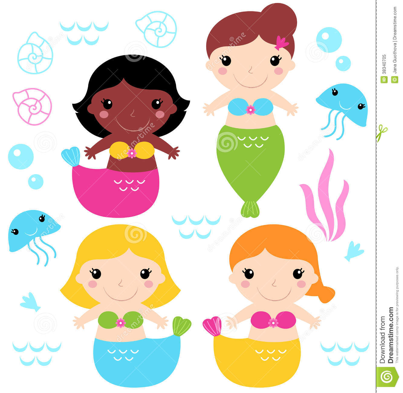 1333x1300 Baby Mermaid Clipart Free Download To Color