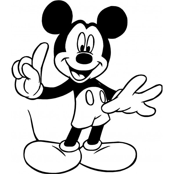 600x600 Mickey Mouse Clip Art Silhouette Clipart Panda
