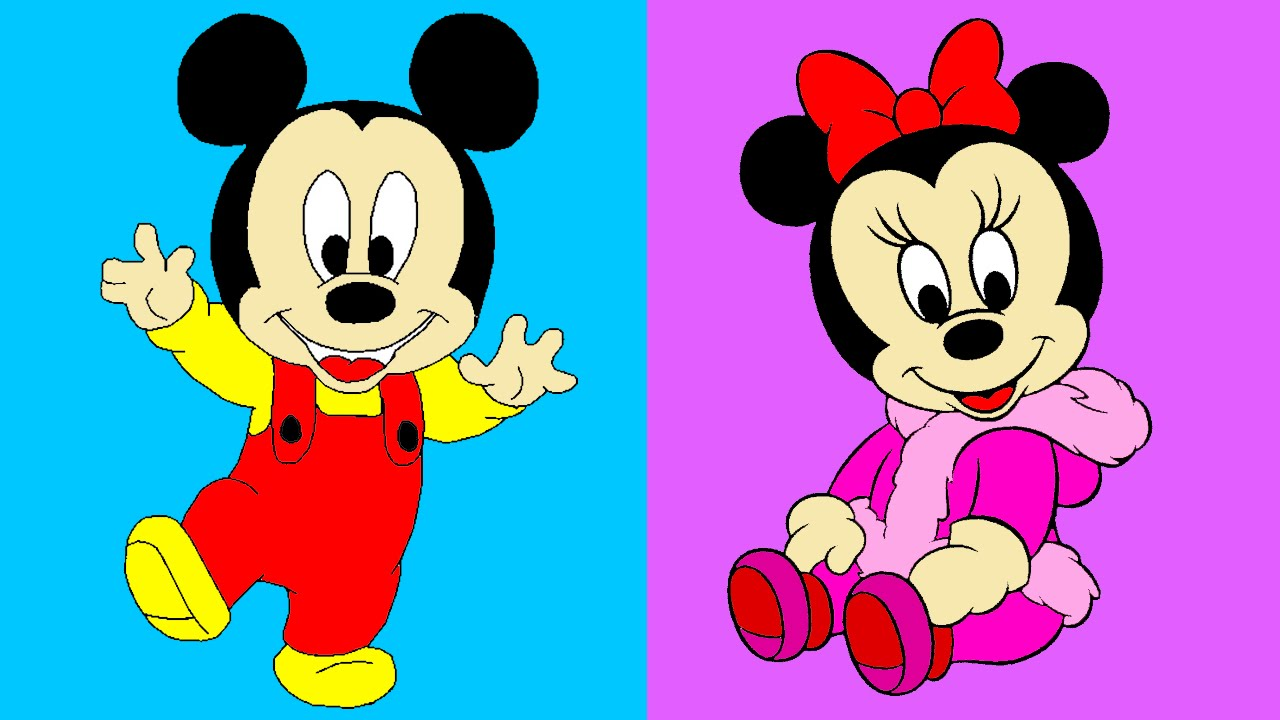 1280x720 Disney's Baby Mickey Minnie Mouse Coloring For Children