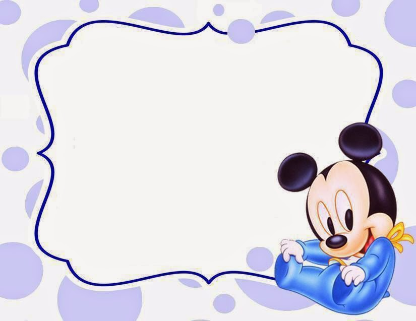 825x637 Free Baby Mickey Mouse Invitation Cards