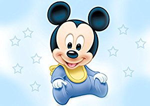 300x212 Baby Mickey Mouse Shower Edible Cake Topper Frosting 1