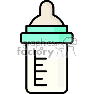 Baby Milk Bottle Clipart
