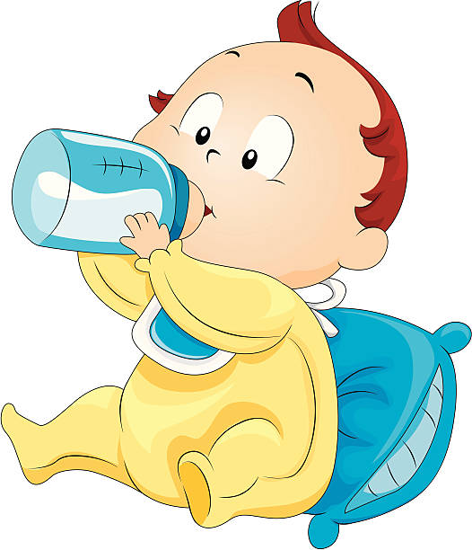 526x612 Baby Clipart Drinking Bottle