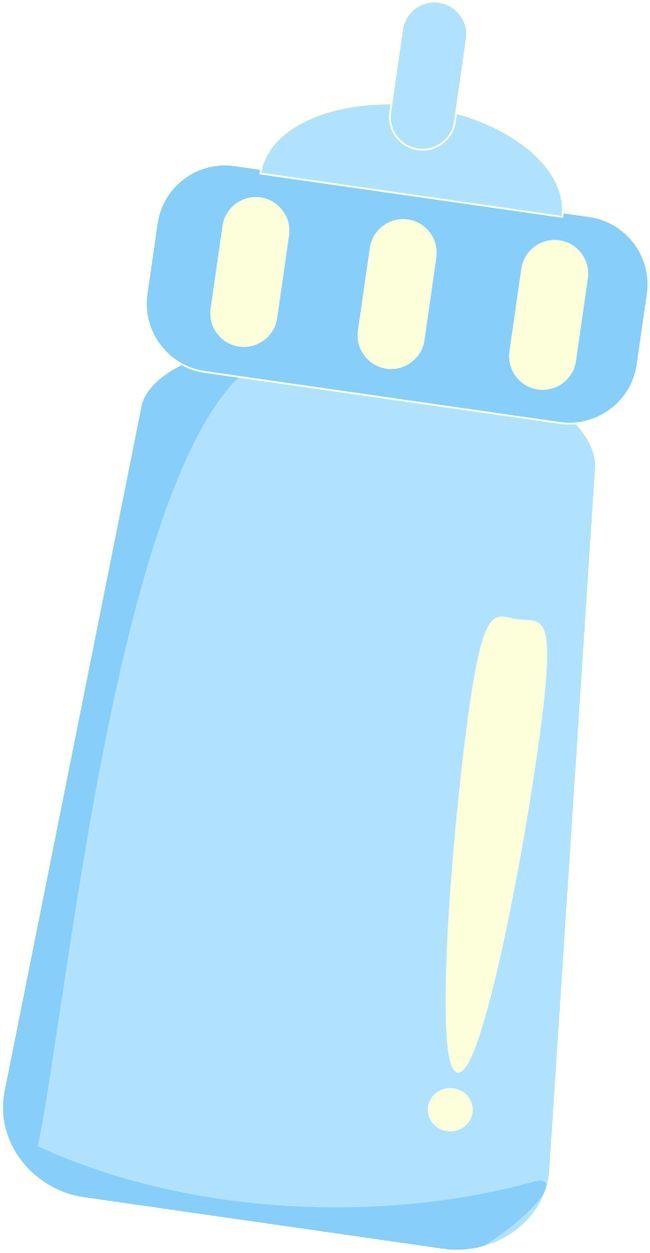 650x1253 Blue Milk Baby Bottle Clipart