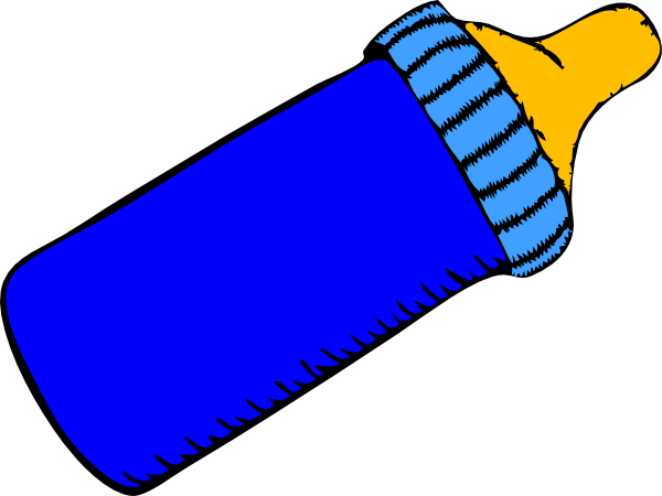 600x450 Baby Bottle Blue Clip Art