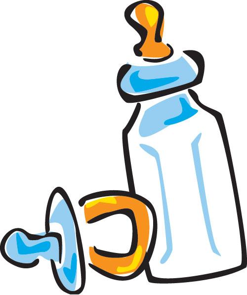 500x597 Baby Bottle Cartoon Clipart