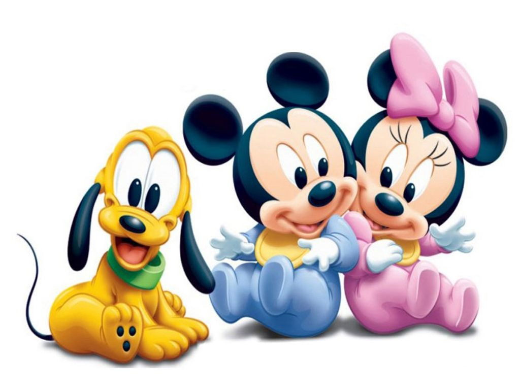 1024x768 Baby Mickey And Minnie Mouse Clip Art