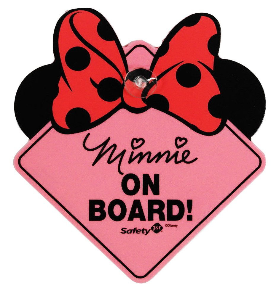 941x1000 Disney Baby Minnie Mouse On Board Safety 1st Sign Ebay