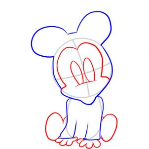 302x302 How To Draw How To Draw Baby Minnie Mouse