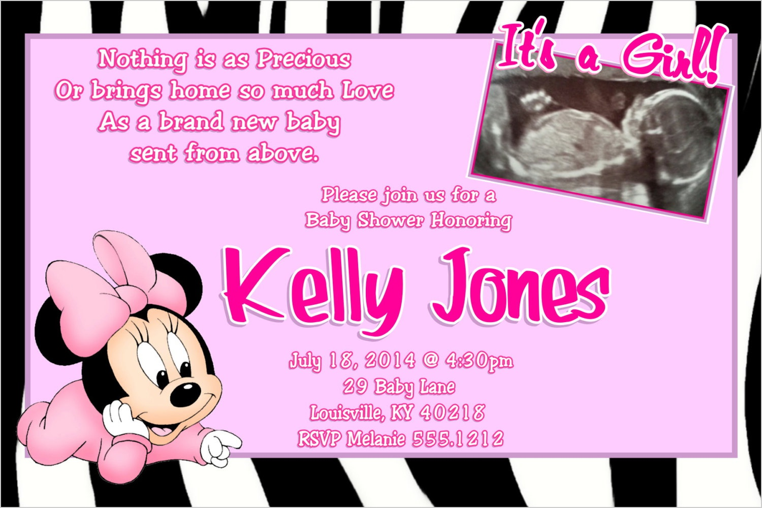 1500x1000 Minnie Mouse Invitations Baby Shower