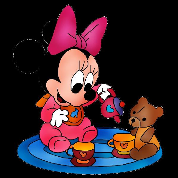600x600 Minnie Mouse With Teddy Bear