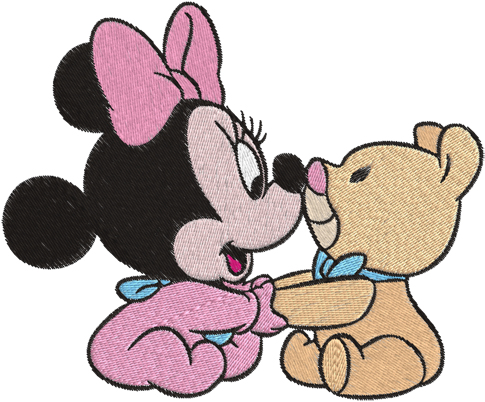485x402 Clip Art Of Baby Minnie Mouse Machine Embroidery Design For Kids
