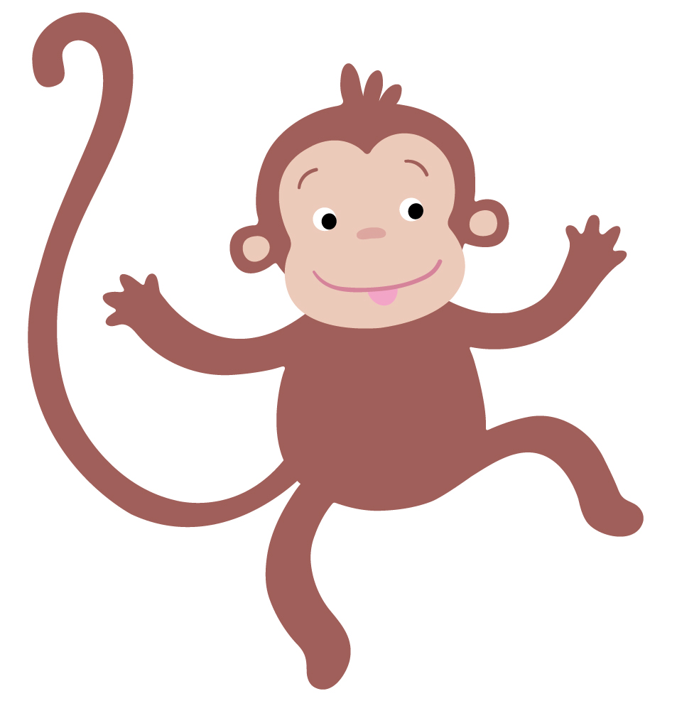 Baby Monkey Cartoon Clipart | Free download best Baby Monkey Cartoon ...