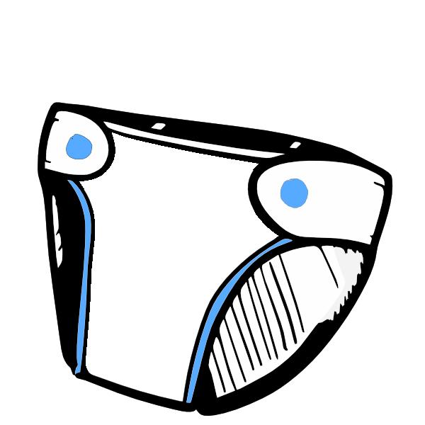 600x600 Blue Diaper Clip Art