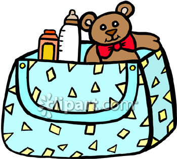 350x315 Free Clip Art Image Diaper Bag Full Of Necessities