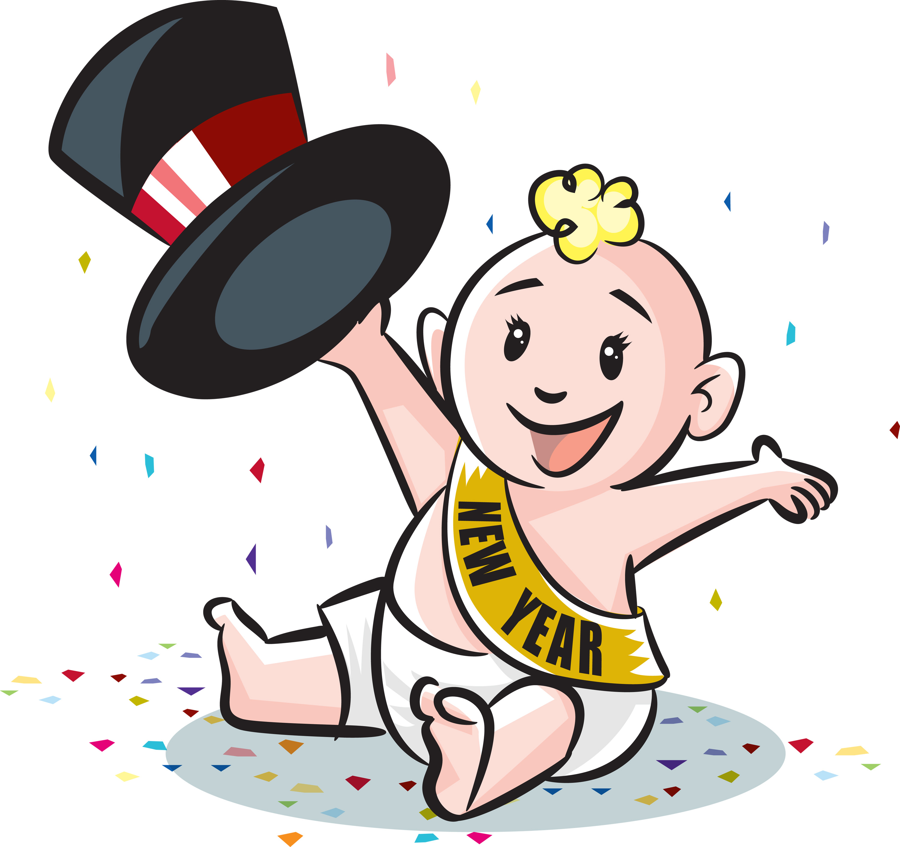 3000x2822 Baby New Year Clip Art Cliparts