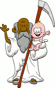 221x353 Free Father Time Clip Art