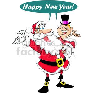 300x300 Royalty Free Happy New Year Santa And Baby New Year Vector Cartoon