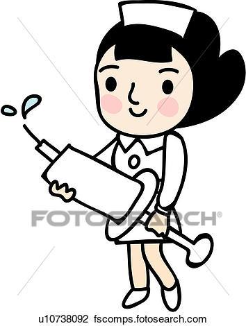 354x470 Clipart Of People, Treatment, Job, Baby, Nurse, Medical U25713005