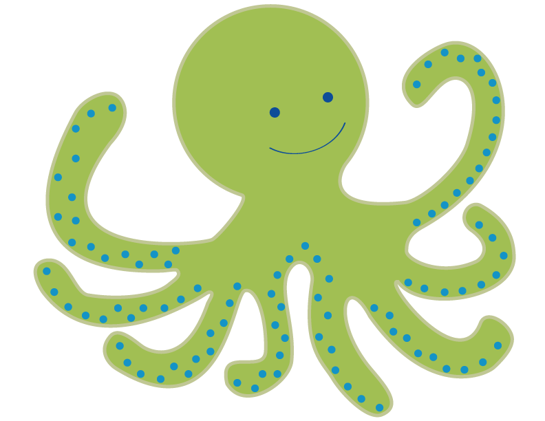 792x612 Creature Clipart Baby Octopus