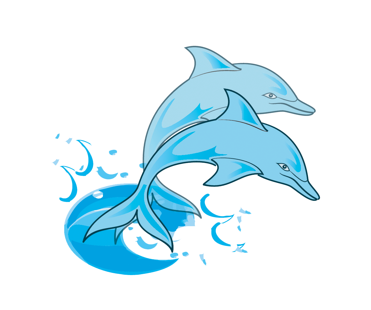 1200x1002 Free Clipart Dolphins