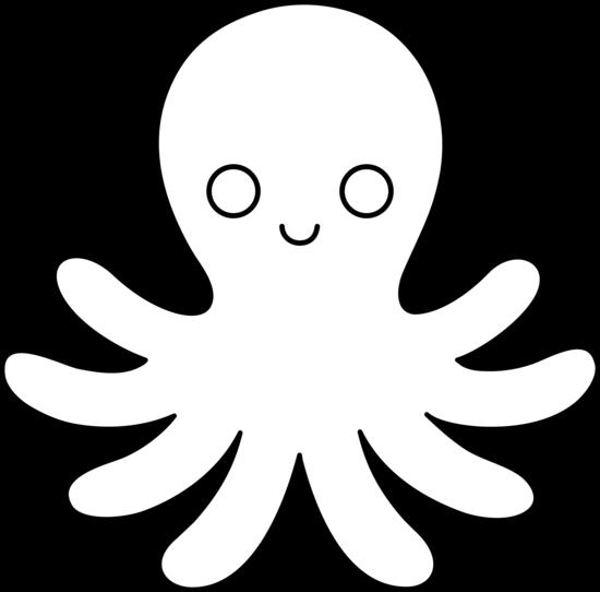 550x542 Octopus Line Art