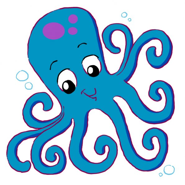 595x593 Octopus Clip Art Free Clipart Images