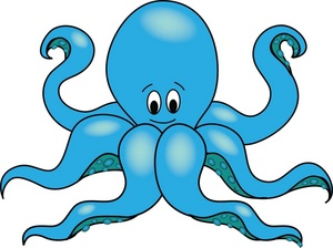 300x224 Baby Octopus Clipart