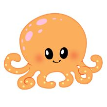 220x220 Whale Clipart Baby Octopus