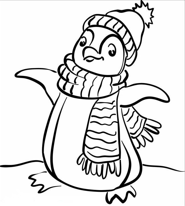 650x724 Fashionable Penguin Coloring Page Animal Pages Of