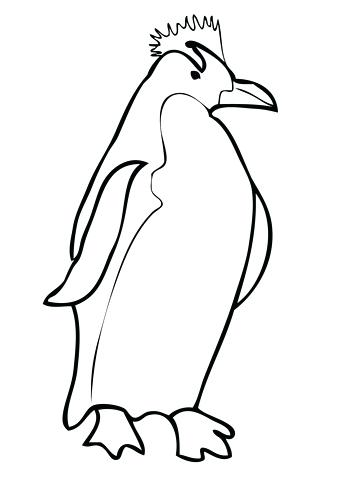 360x480 Printable Penguin Baby Penguin Coloring Pages Emperor Penguin