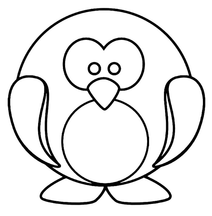 700x716 Penguin Coloring Pages
