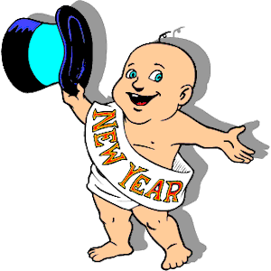 300x300 New Year Baby Clip Art Free