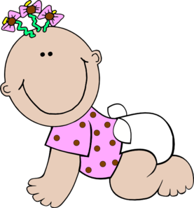 277x297 Baby Clipart Girl