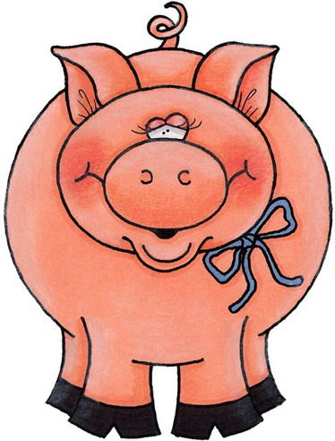 374x492 164 Best Pig Clip Art Images Baby Pig, Girl