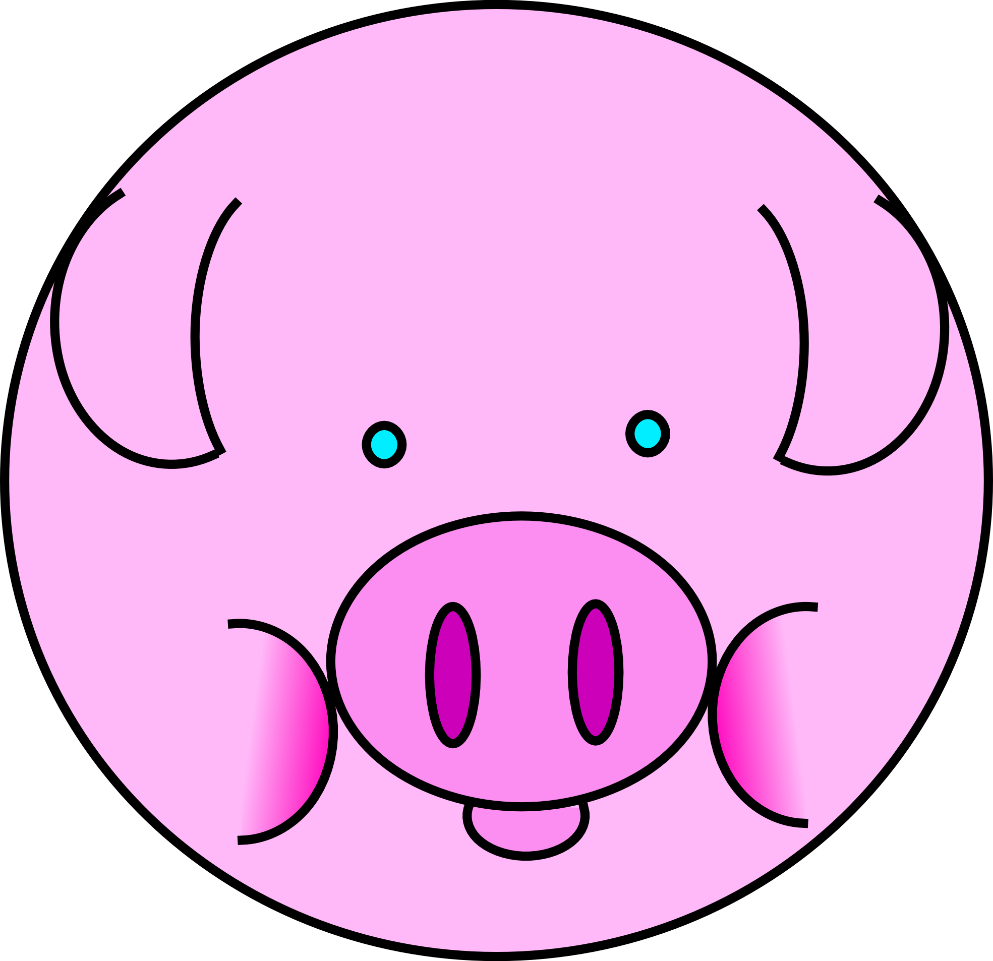 1969x1906 Pigs Clip Art 3