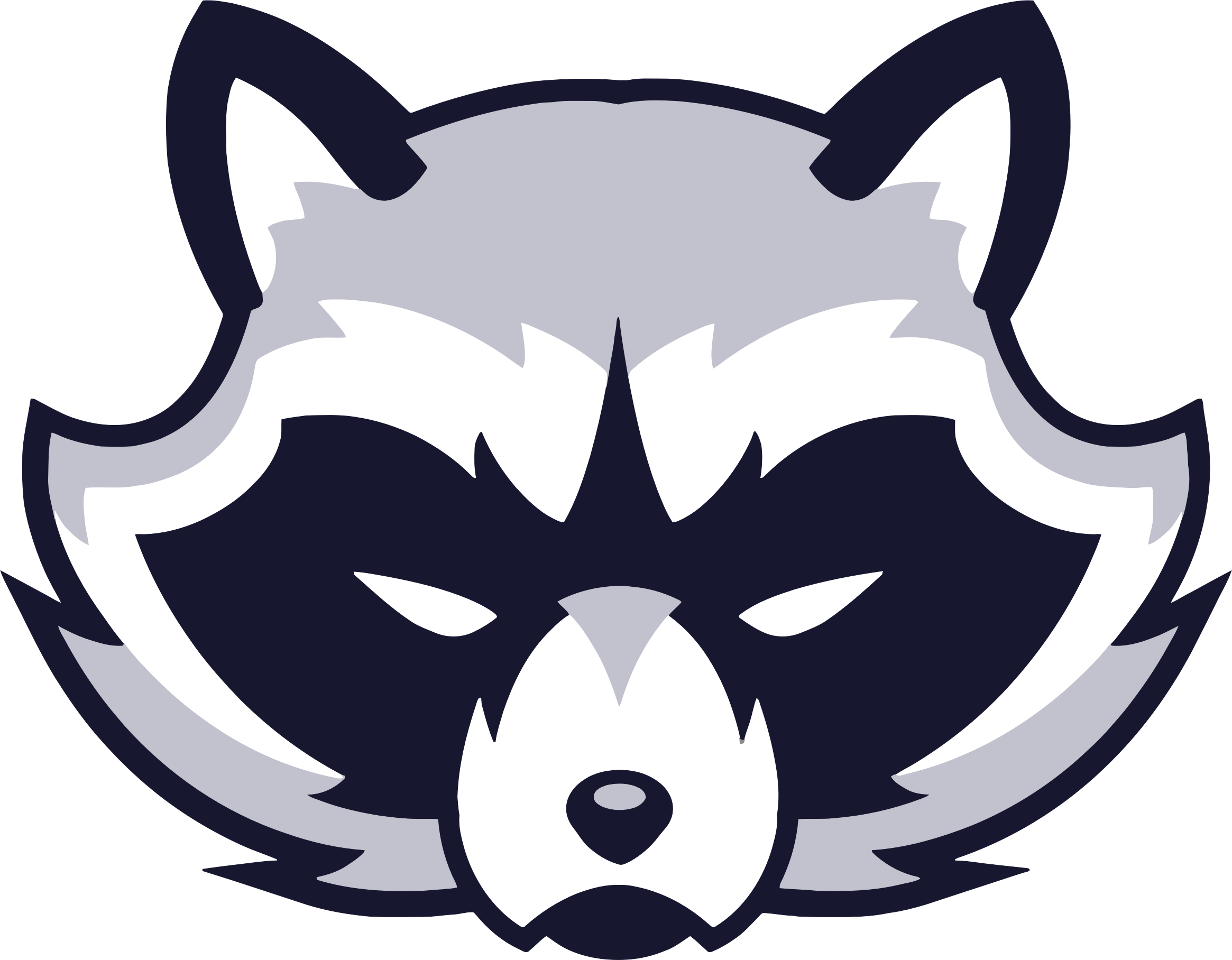 2330x1816 Raccoon Vector Clipart