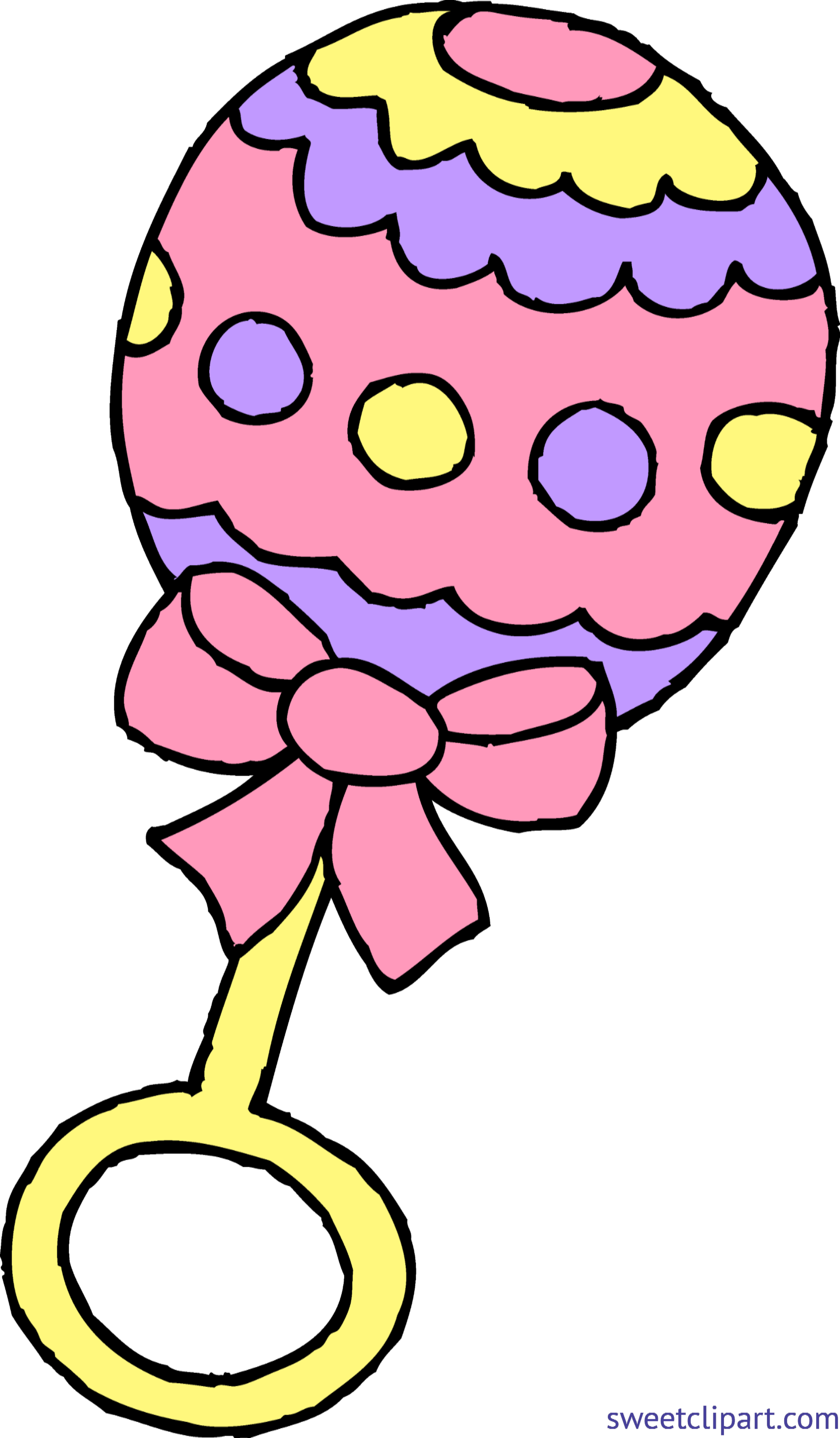 2913x4985 Baby Rattle Girl Pink Clip Art