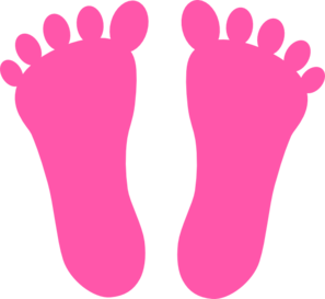 297x273 Pink Footprints Clip Art