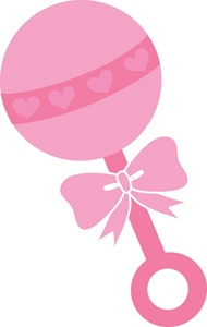 190x300 Baby Girl Rattle Clipart
