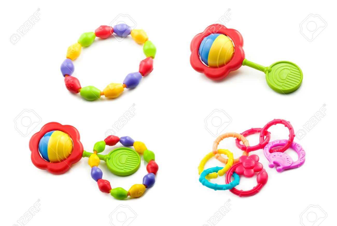 1300x870 A Collage Of Baby Toys Including Teething Rings, And Rattles