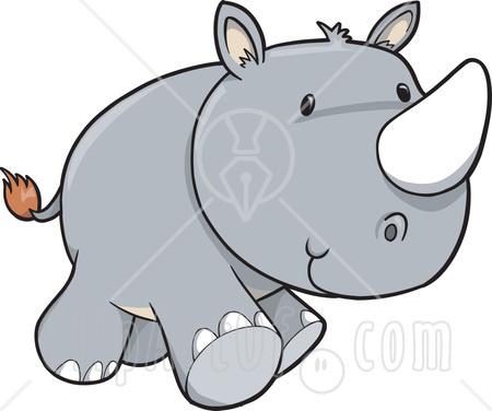 450x376 Baby Rhino Clipart