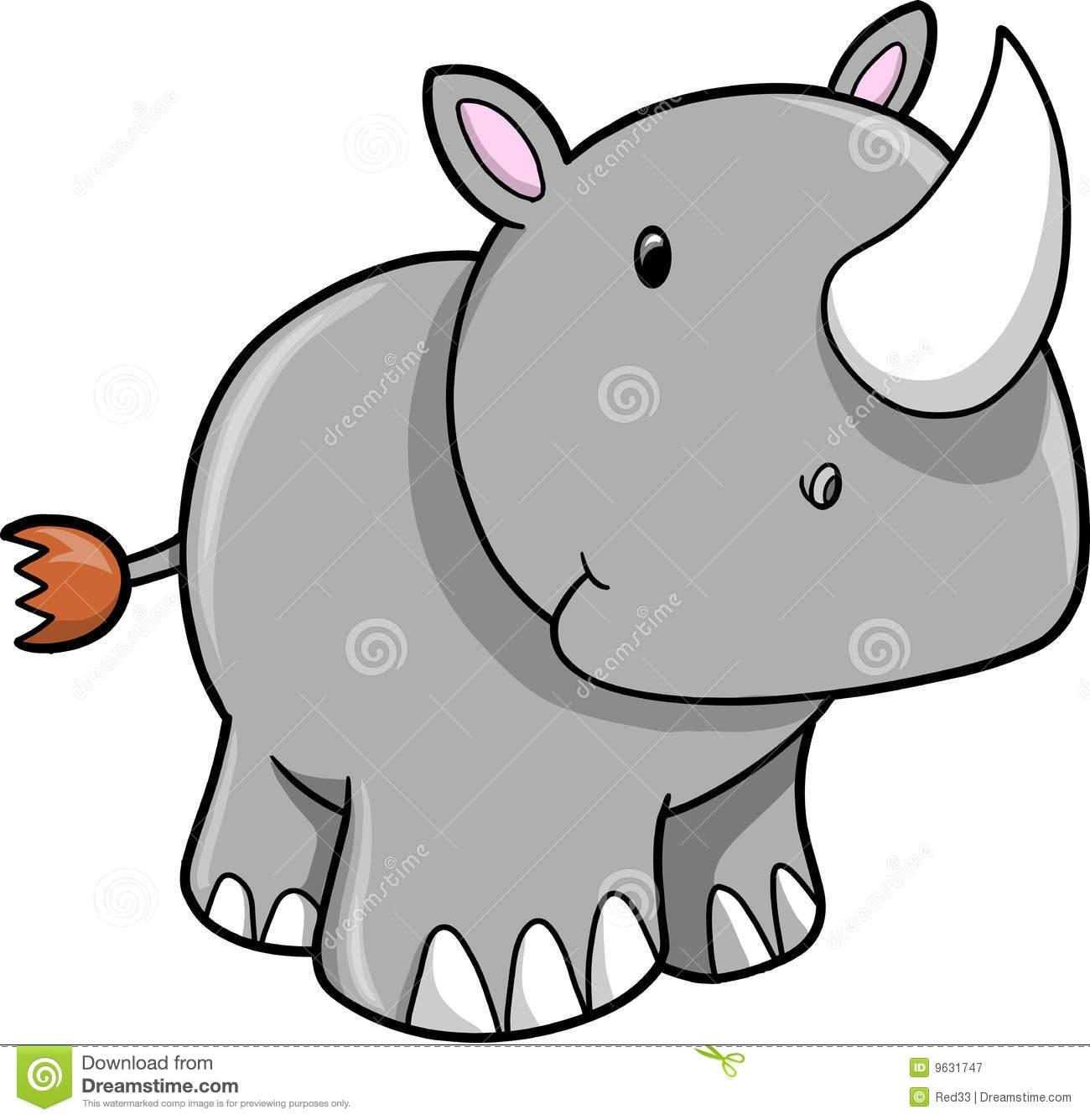 1300x1335 Baby Rhino Clipart