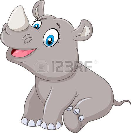 445x450 Rhino Clipart Baby Rhino