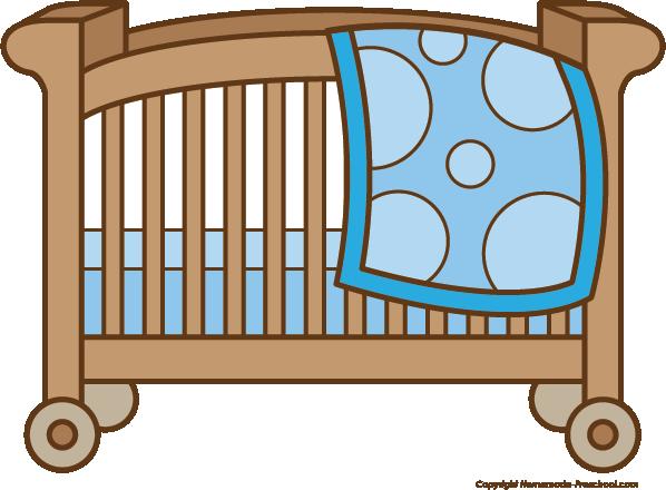 598x440 Baby Clipart Crib