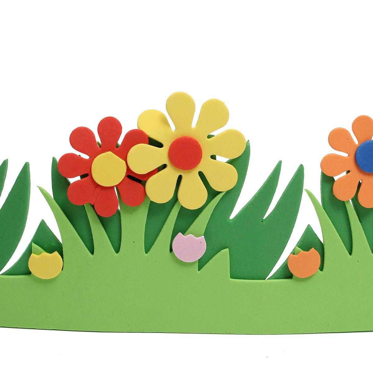 1200x1200 Children Kids Foam Flower Grass Garden Railings Kindergarten Art