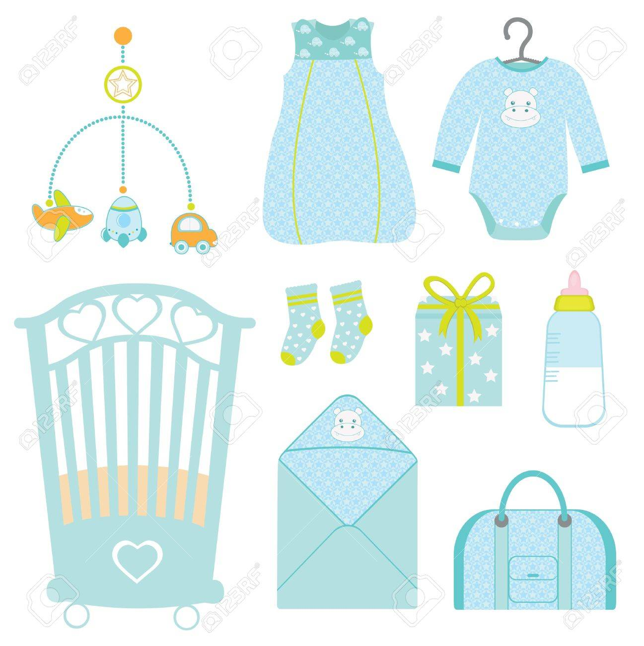 1297x1300 Cute Baby Boy Nursery Royalty Free Cliparts, Vectors, And Stock
