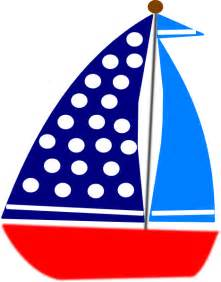 221x282 Blue Baby Sailboat Clipart